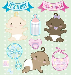 Heres baby collection vector