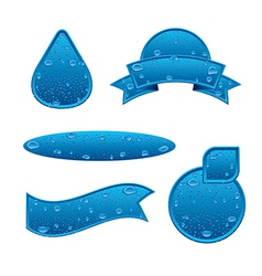 Clear water banners vector