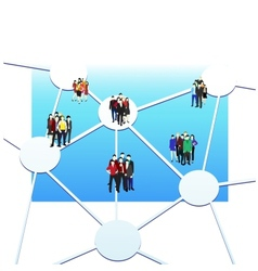 Business connection vector