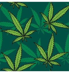 Hemp seamless pattern vector