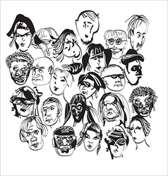 Faces in a crowd vector