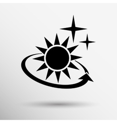 Sun icon sun icon outdoor sunlight vector