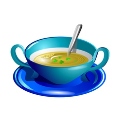 Clear soup vector
