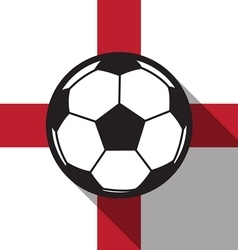 Football icon with england flag vector