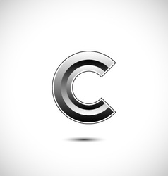Abstract icon based on the letter c vector