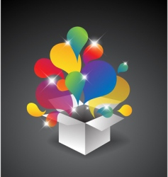 Gift box of balloons vector