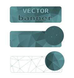 Polygon abstract banner vector