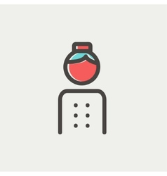 Bellboy thin line icon vector