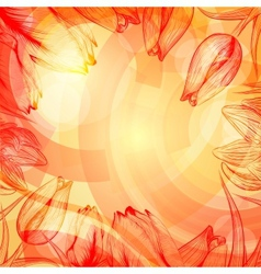 Abstract techno rise background with flowers vector