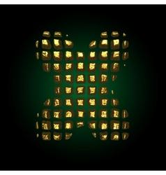 Golden letter x vector