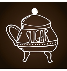 Sugar bowl vector