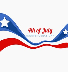 Wave style 4th of july vector