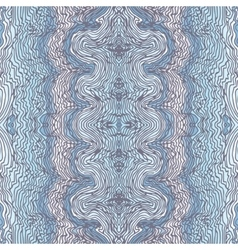 Seamless waves hand-drawn pattern vector