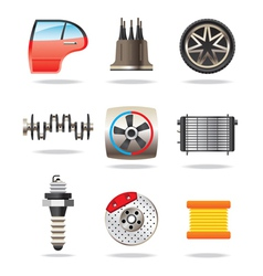 Car parts and symbols vector