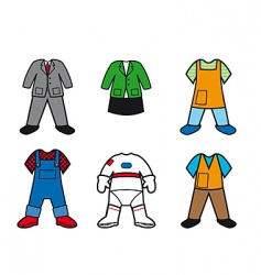 Career costumes vector