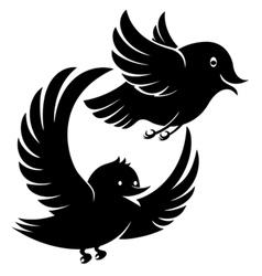 Flying bird icons vector