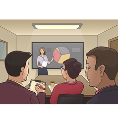 Business meeting in a boardroom vector