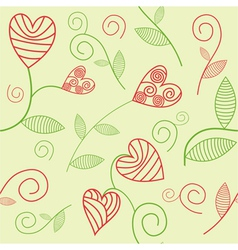 Romantic seamless background vector