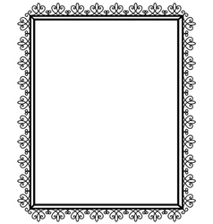 Openwork and black frame vector