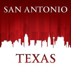 San antonio texas city skyline silhouette vector