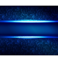 Christmas blue shiny background vector