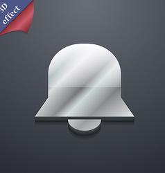 Alarm bell icon symbol 3d style trendy modern vector