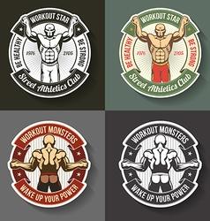 Athletic logos vector