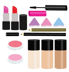 Beauty makeup set vector