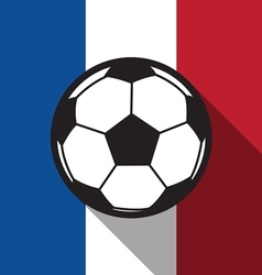 Football icon with france flag vector