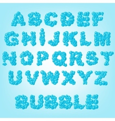 Bubble abstract alphabet vector