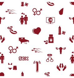 Sex theme simple red icons seamless pattern eps10 vector