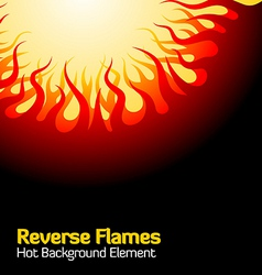 Reverse flames vector