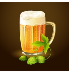 Beer hop background vector