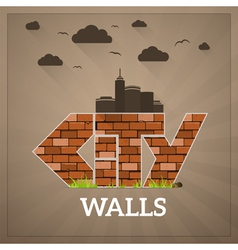 City walls vector