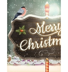Christmas vintage street with signboard eps 10 vector