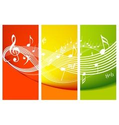 Fresh music theme vector
