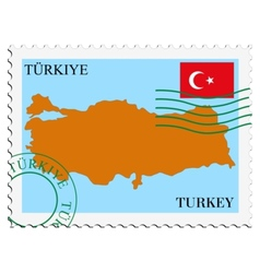 Mail to-from turkey vector