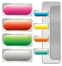 Panel buttons vector