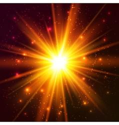 Yellow cosmic explode vector