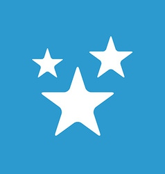 Stars icon white on the blue background vector