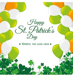 St patricks day card design vector