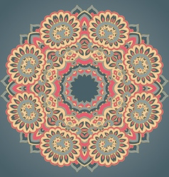 Round ornament pattern with floral decorative vector