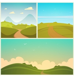 Country road set vector