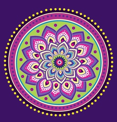 Indian floral decorative design vector