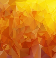 Honey yellow brown polygonal triangular pattern vector
