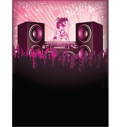Concert poster with speakers vector