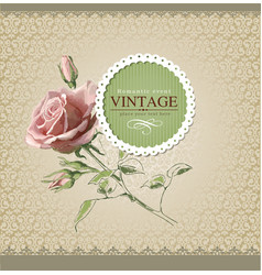 Vintage border rose vector