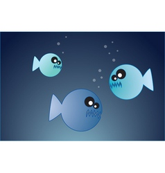Hungry fish vector
