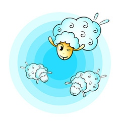 Cloud sheep vector