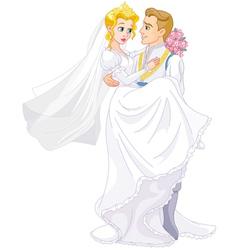 Happy royal couple vector